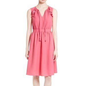 NEW • Kate Spade • Crepe Fit and Flare Dress Pink